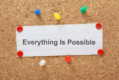 Sign saying everything is possible